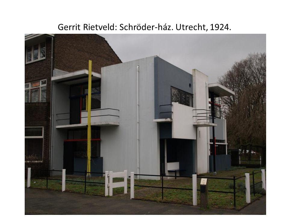 Gerrit Rietveld: Schröder-ház. Utrecht, 1924.