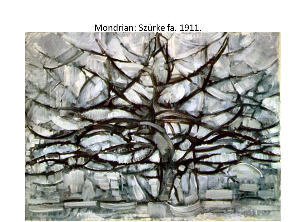 Mondrian: Fejlődés. 1911.