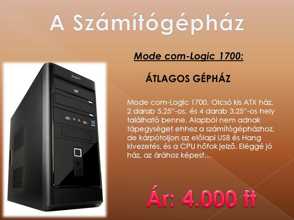 """Mode com-Logic 1700: Mode com-Logic 1700. Olcsó kis ATX ház, 2 darab 5.25""""-os, és 4 darab 3.25""""-os hely található benne. Alapból nem adnak tápegységet"""
