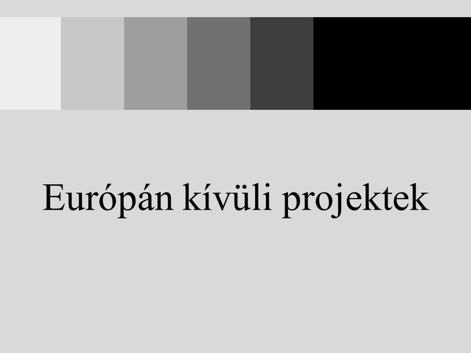 Európán kívüli projektek