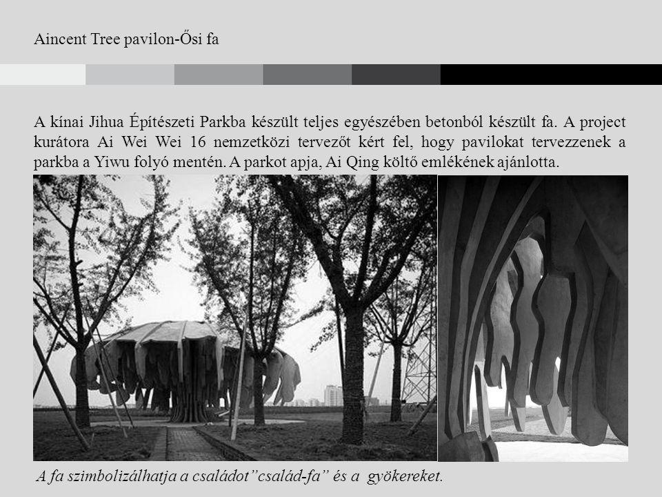 Aincent Tree pavilon-Ősi fa A kínai Jihua Építészeti Parkba készült teljes egyészében betonból készült fa.