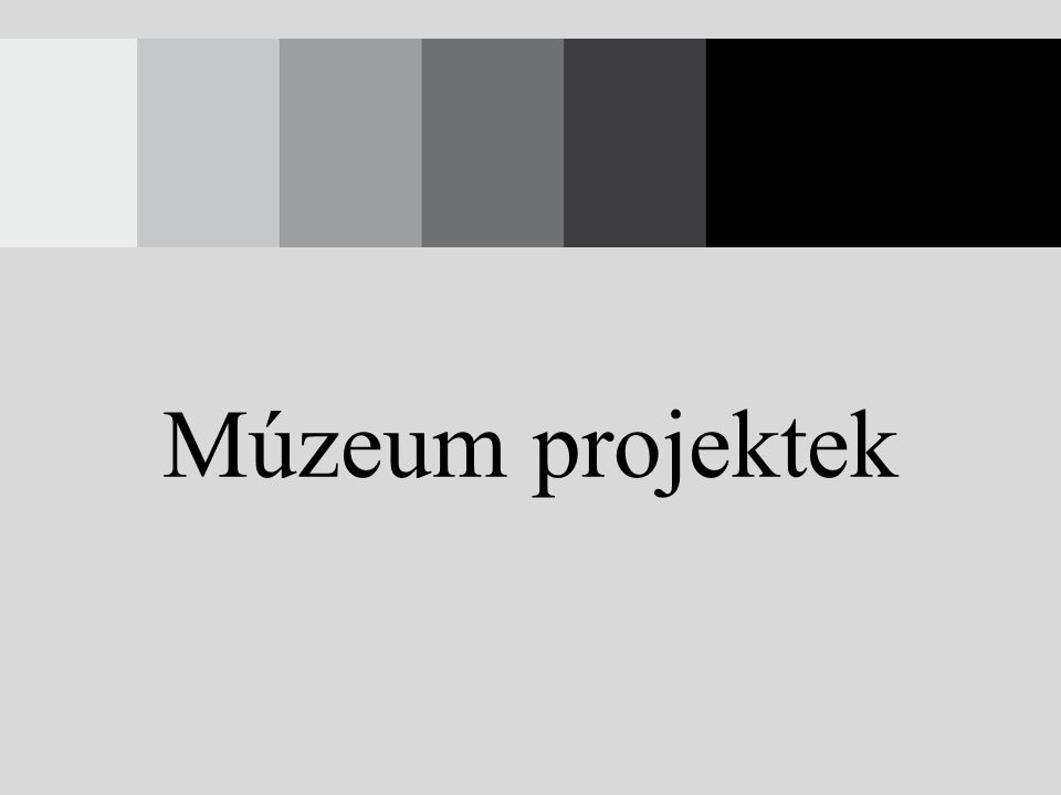 Múzeum projektek