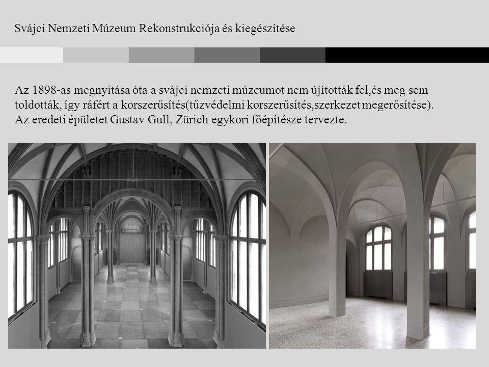 Svájci Nemzeti Múzeum Rekonstrukciója(2002-2009) és kiegészítése(2012-2016)