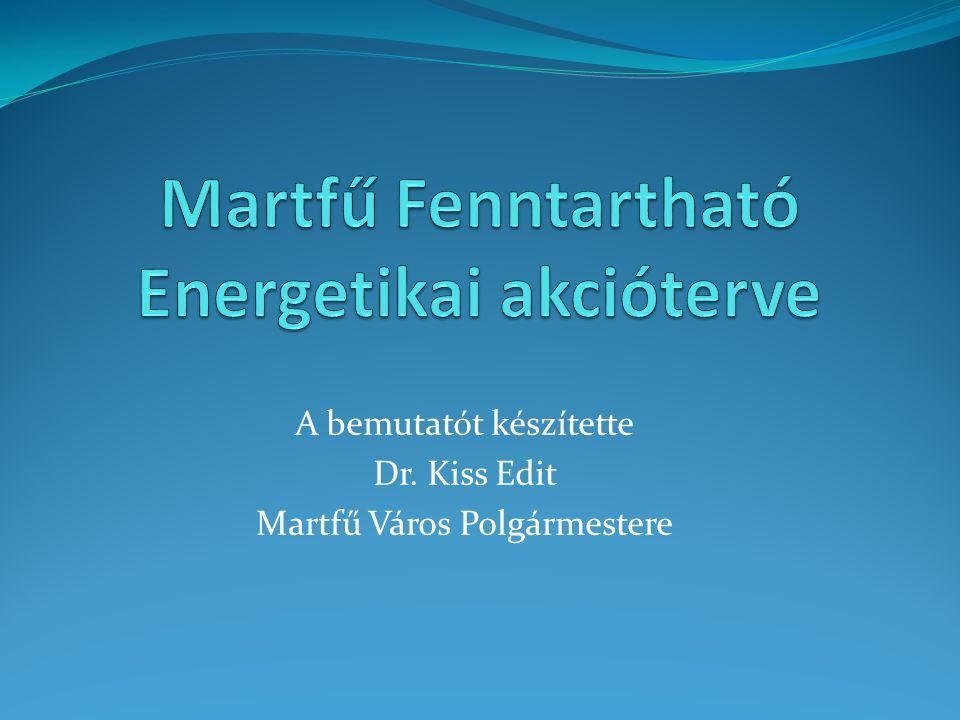 A bemutatót készítette Dr. Kiss Edit Martfű Város Polgármestere