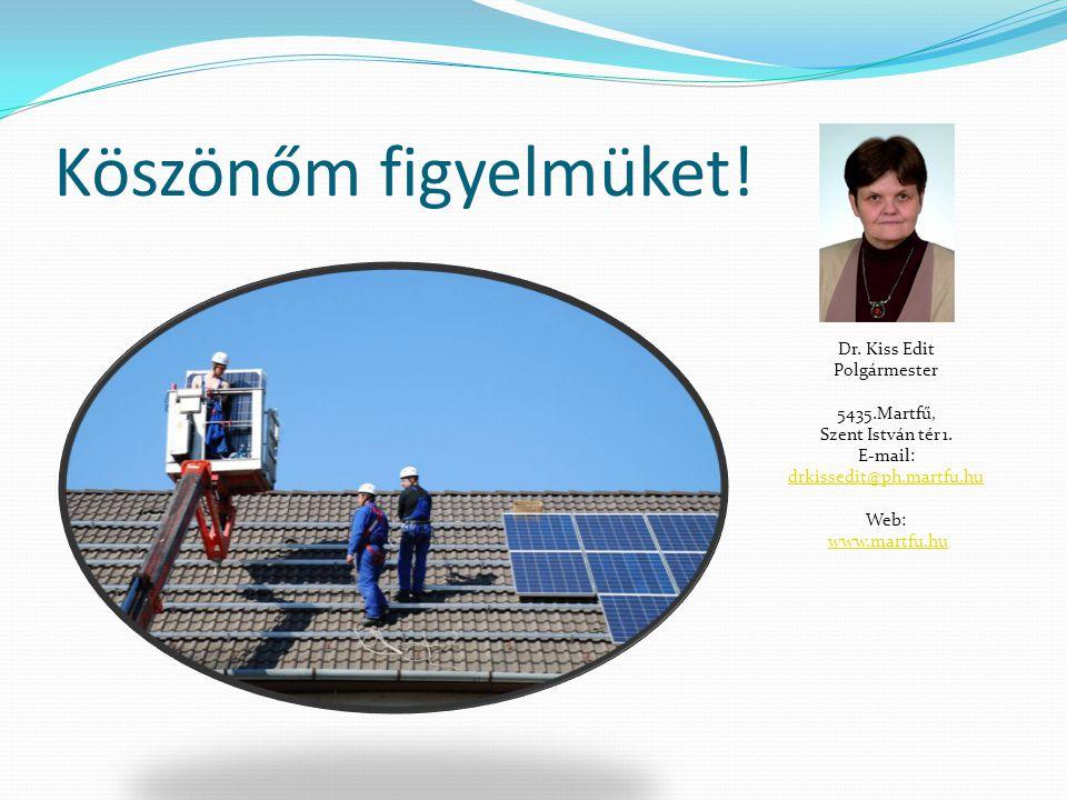 Köszönőm figyelmüket! Dr. Kiss Edit Polgármester 5435.Martfű, Szent István tér 1. E-mail: drkissedit@ph.martfu.hu drkissedit@ph.martfu.hu Web: www.mar