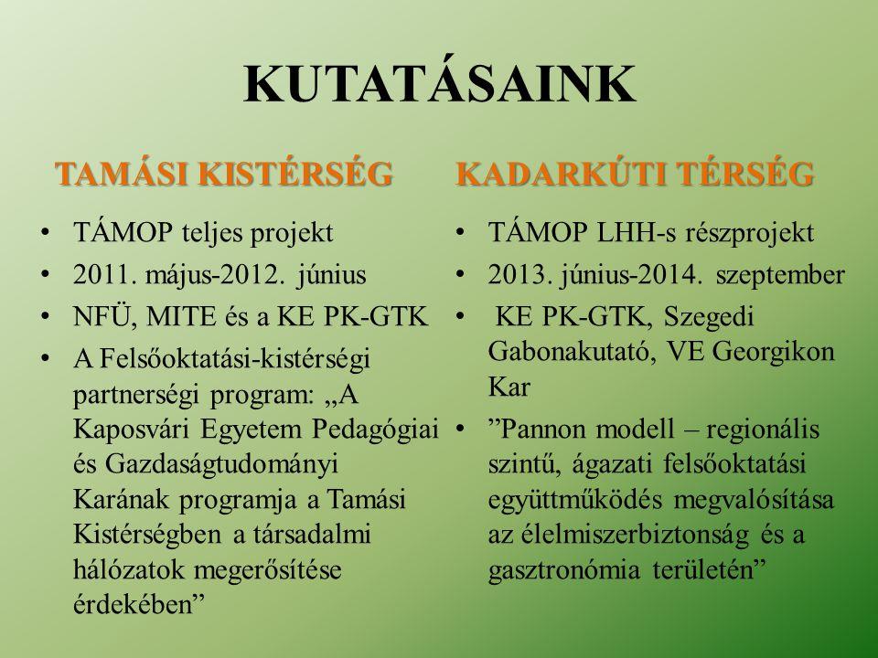 • TÁMOP teljes projekt • 2011.május-2012.