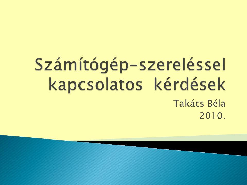 Takács Béla 2010.