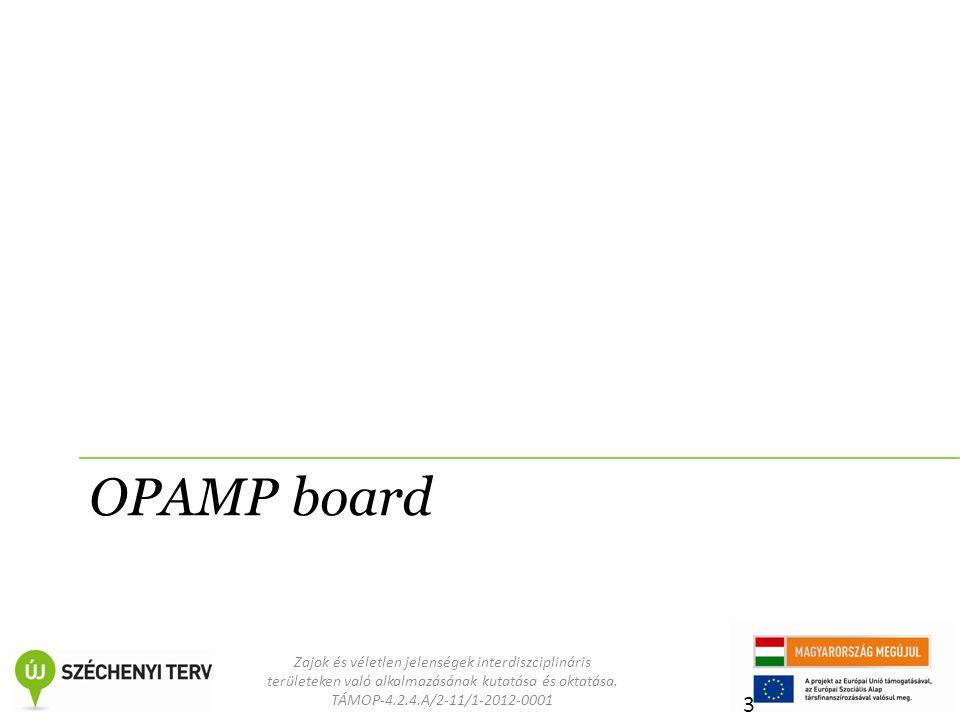 Zajok és véletlen jelenségek interdiszciplináris területeken való alkalmazásának kutatása és oktatása. TÁMOP-4.2.4.A/2-11/1-2012-0001 OPAMP board 3