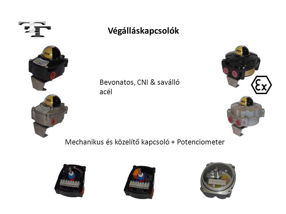 Végálláskapcsolók Mechanikus és közelítő kapcsoló + Potenciometer Bevonatos, CNI & saválló acél