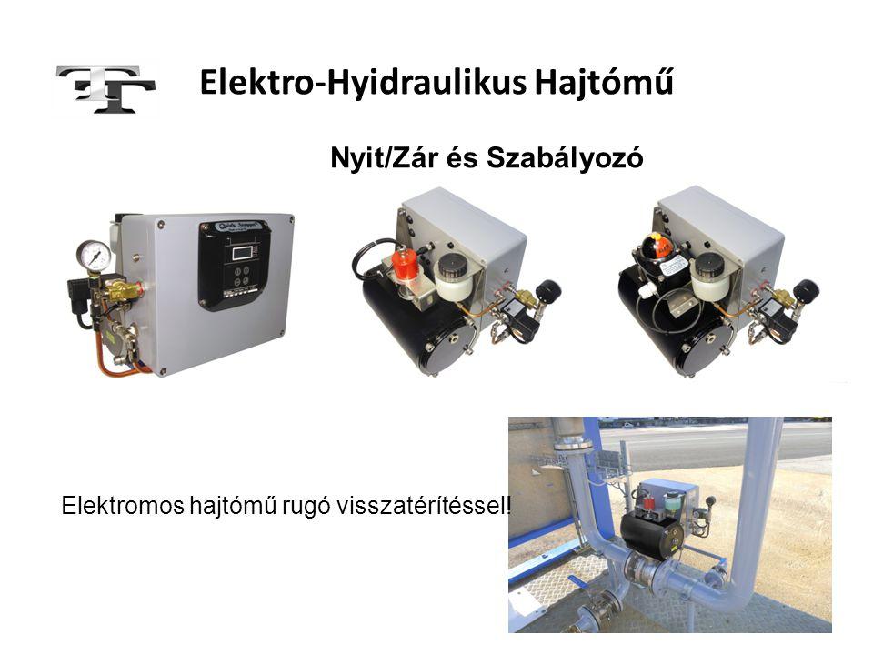 Elektro-Hyidraulikus Hajtómű Elektromos hajtómű rugó visszatérítéssel! Nyit/Zár és Szabályozó