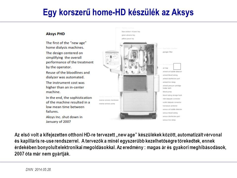 """Egy korszerű home-HD készülék az Aksys Az első volt a kifejezetten otthoni HD-re tervezett """"new age"""" készülékek között, automatizált vérvonal és kapil"""
