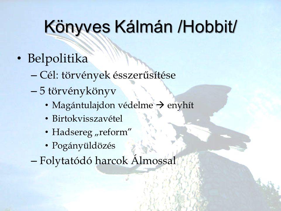 """•B•Belpolitika –C–Cél: törvények ésszerűsítése –5–5 törvénykönyv •M•Magántulajdon védelme  enyhít •B•Birtokvisszavétel •H•Hadsereg """"reform"""" •P•Pogány"""