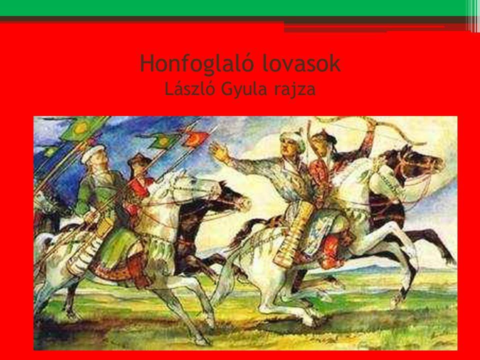 Honfoglaló lovasok László Gyula rajza