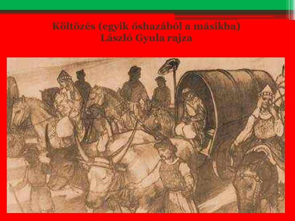Költözés (egyik őshazából a másikba) László Gyula rajza