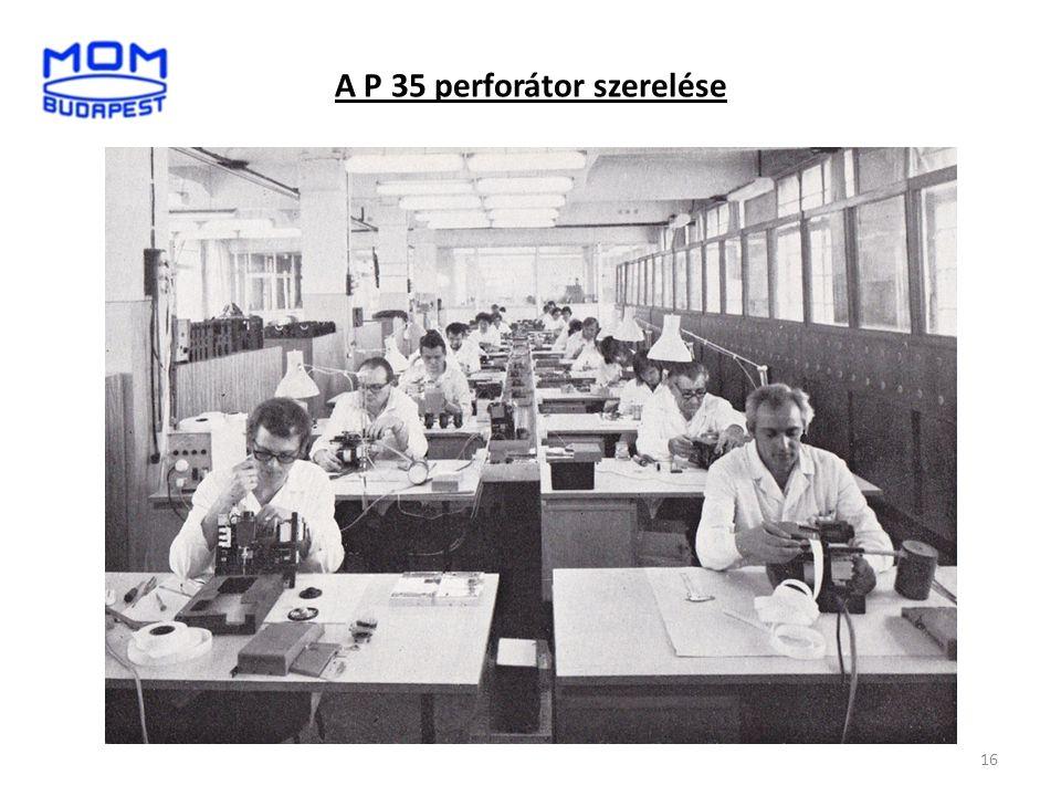 A P 35 perforátor szerelése 16