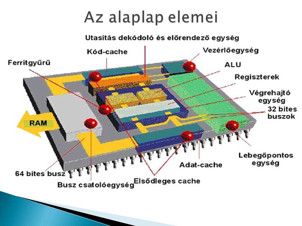 A processzor sebessége az egy másodperc alatt elvégzett millió műveletek száma, azaz a MIPS vagy MFLOPS.