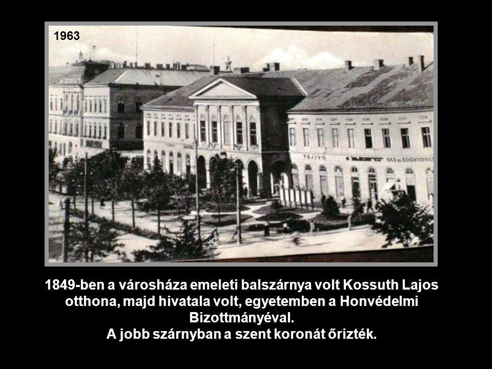 1951 A Városháza nyugodt klasszicista épülettömbjének kulcsát 1843- ban vehette át a város.