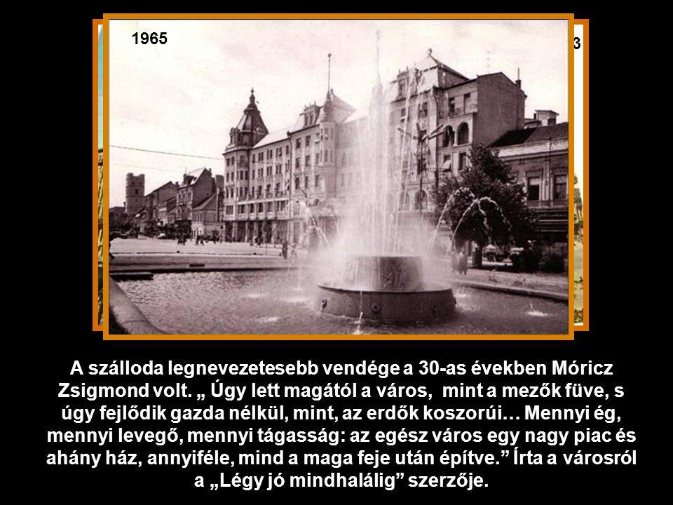 1936 A mai épület Hajós Alfréd, első magyar olimpiai bajnok tervei alapján épült 1915-ben, szecessziós stílusban.