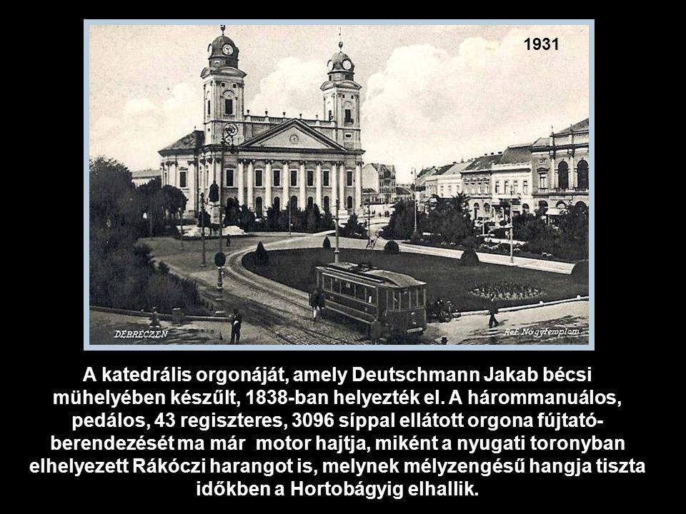 1910 Debrecen jelképe a református Nagytemplom.