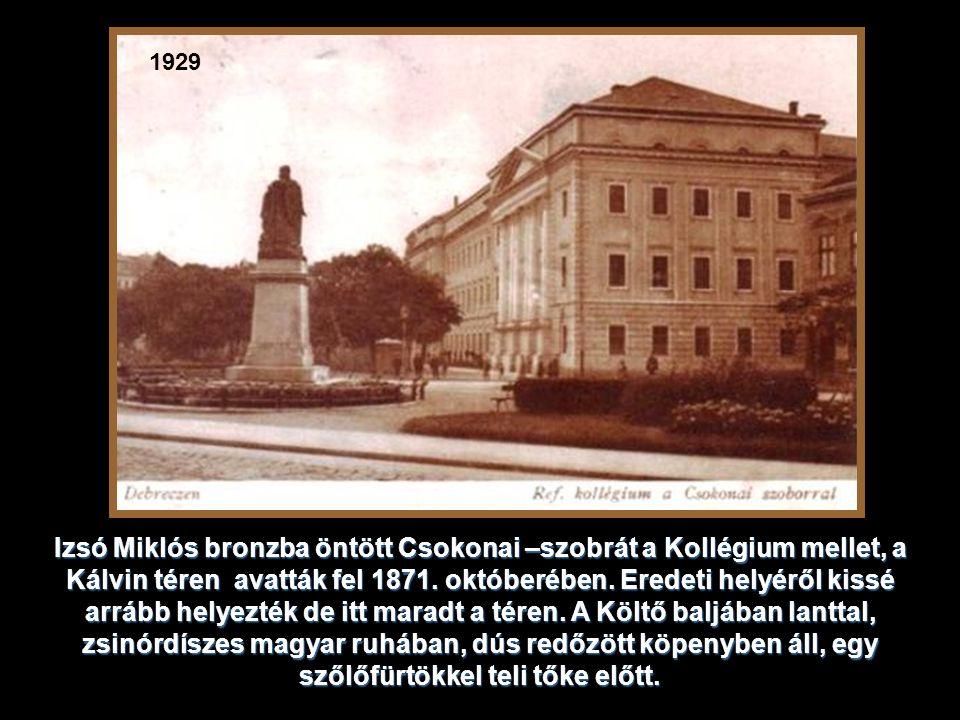 A Kollégium imatermében, az Oratóriumban - tartotta a magyar ország- gyűlés képviselőháza üléseit 1849.