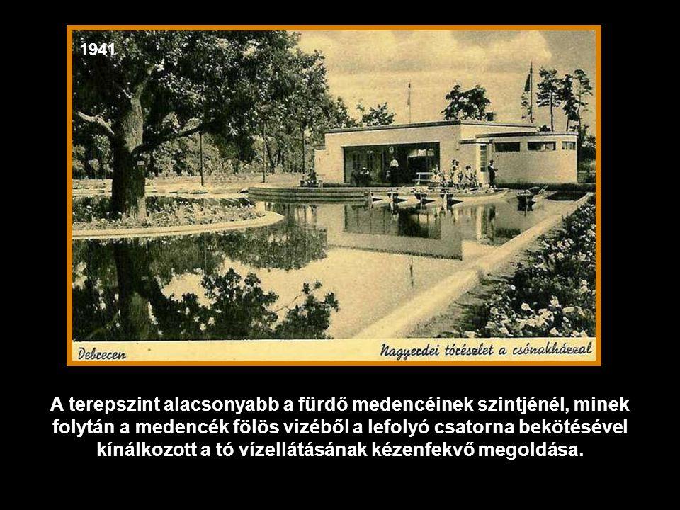 1937 A bejárattal szemben a Csónakázótó található.