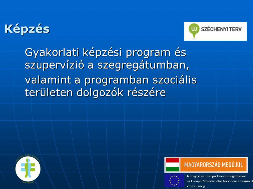 Képzés Gyakorlati képzési program és szupervízió a szegregátumban, valamint a programban szociális területen dolgozók részére A projekt az Európai Uni