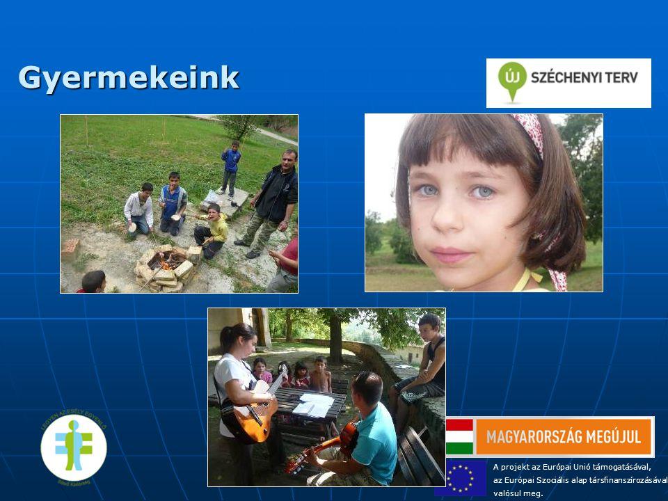 Gyermekeink A projekt az Európai Unió támogatásával, az Európai Szociális alap társfinanszírozásával valósul meg.