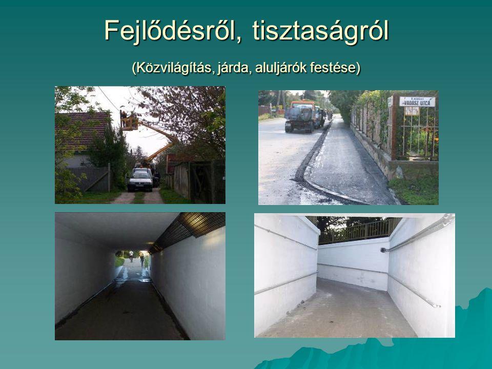 Fejlődésről, tisztaságról (Közvilágítás, járda, aluljárók festése)