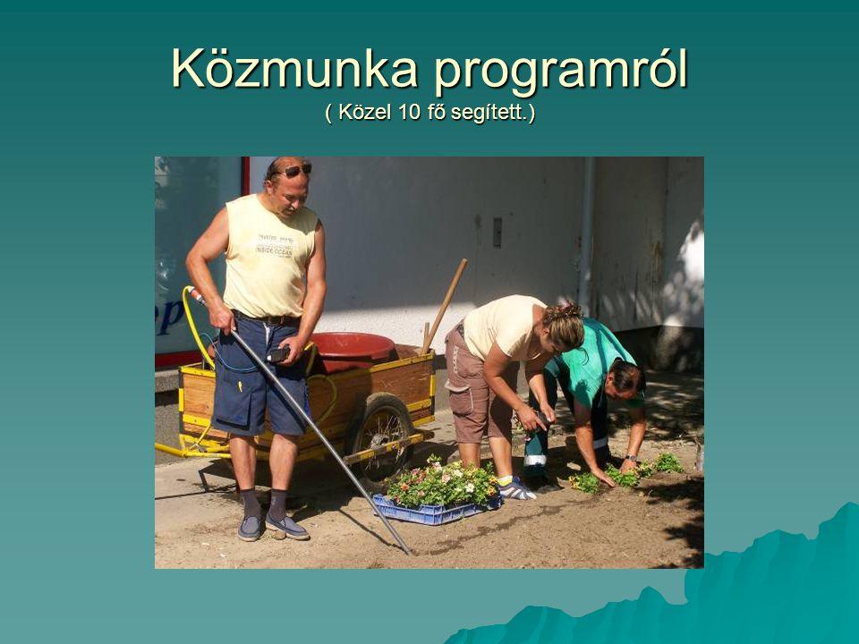 Közmunka programról ( Közel 10 fő segített.)