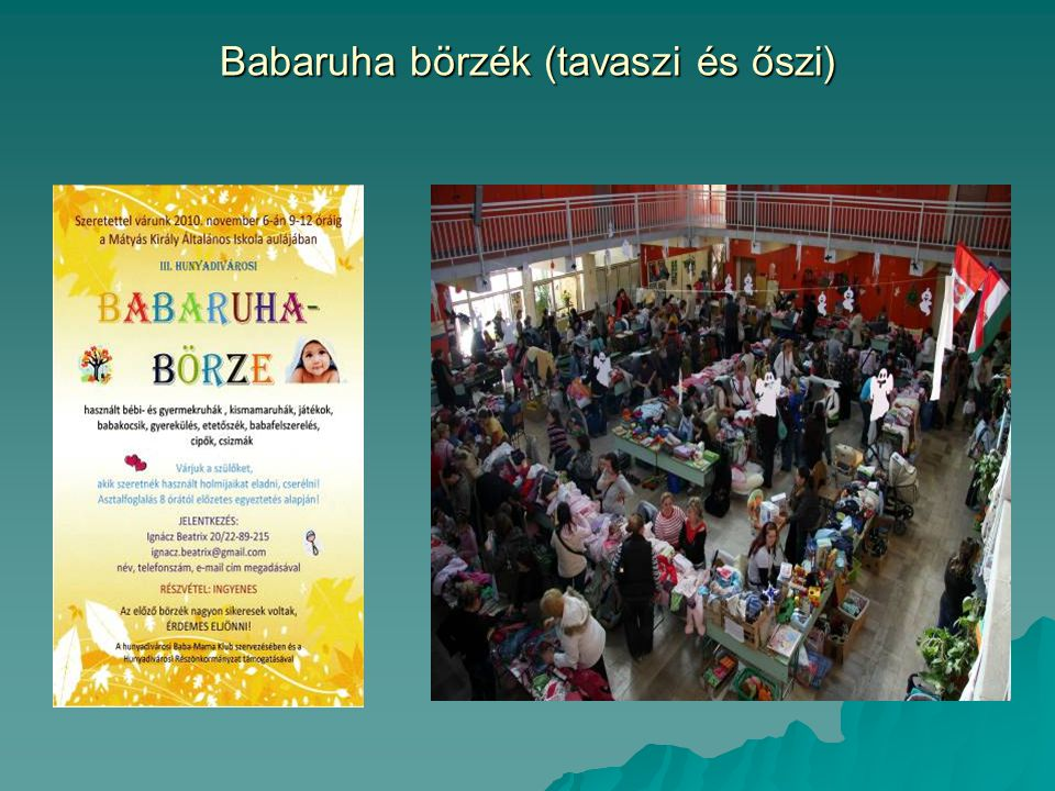 Babaruha börzék (tavaszi és őszi)
