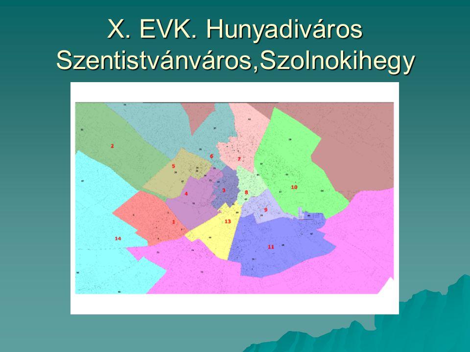 X. EVK. Hunyadiváros Szentistvánváros,Szolnokihegy