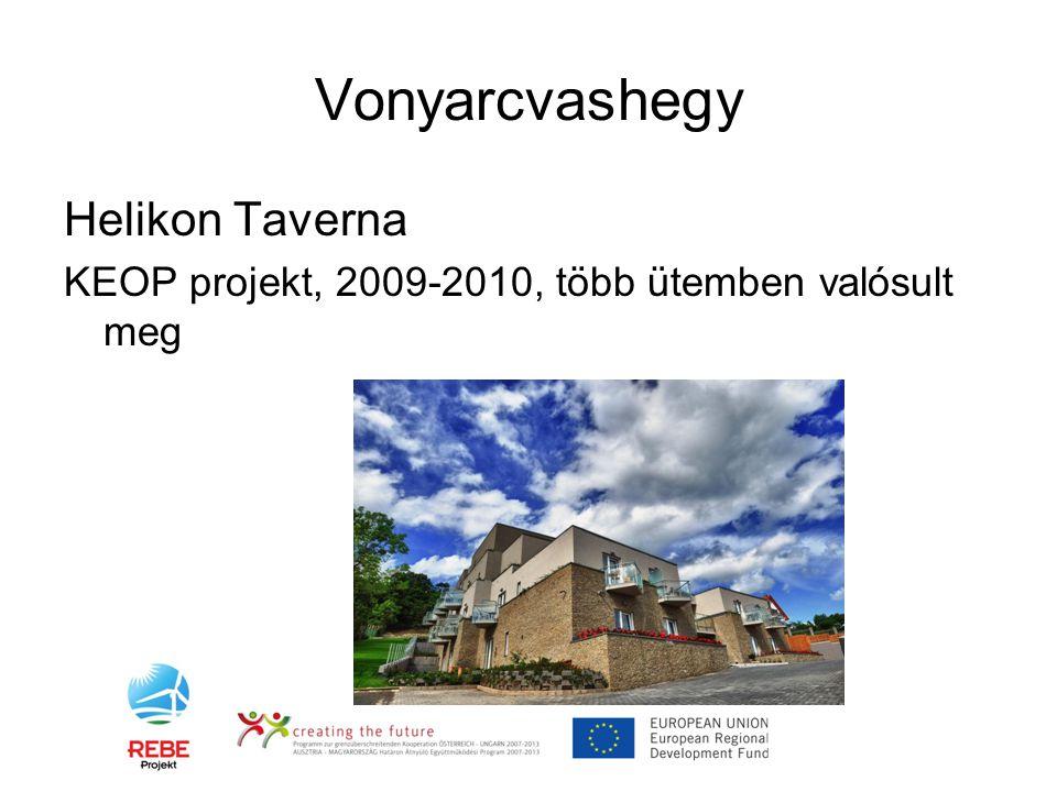 Vonyarcvashegy Helikon Taverna KEOP projekt, 2009-2010, több ütemben valósult meg