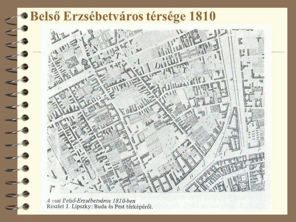 Belső Erzsébetváros térsége 1810