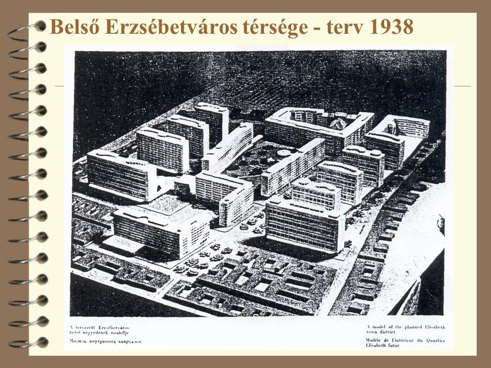 Belső Erzsébetváros térsége - terv 1938