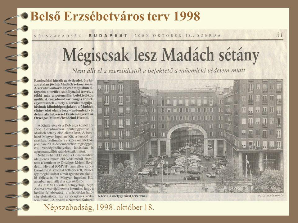 Belső Erzsébetváros terv 1998 Népszabadság, 1998. október 18.