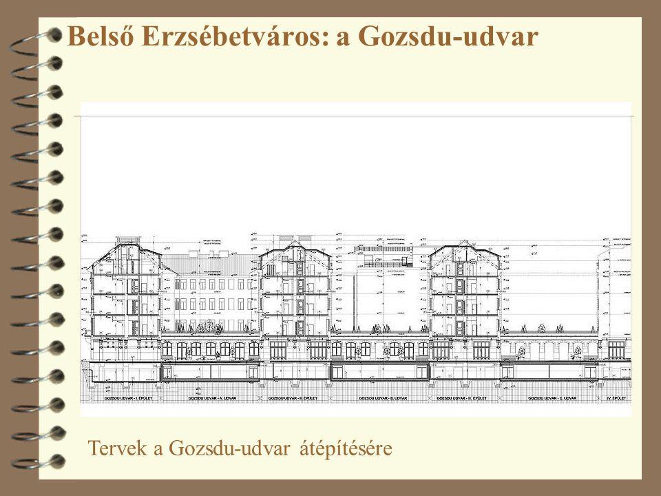 Tervek a Gozsdu-udvar átépítésére
