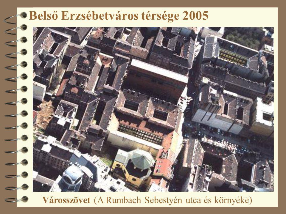 Belső Erzsébetváros térsége 2005 Városszövet (A Rumbach Sebestyén utca és környéke)