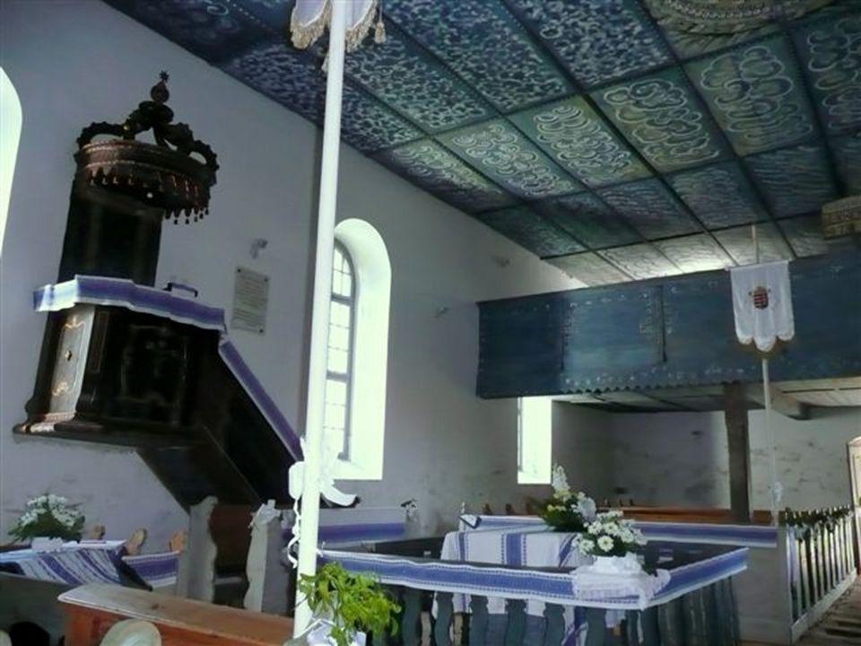 Részlet a templom mennyezetéből
