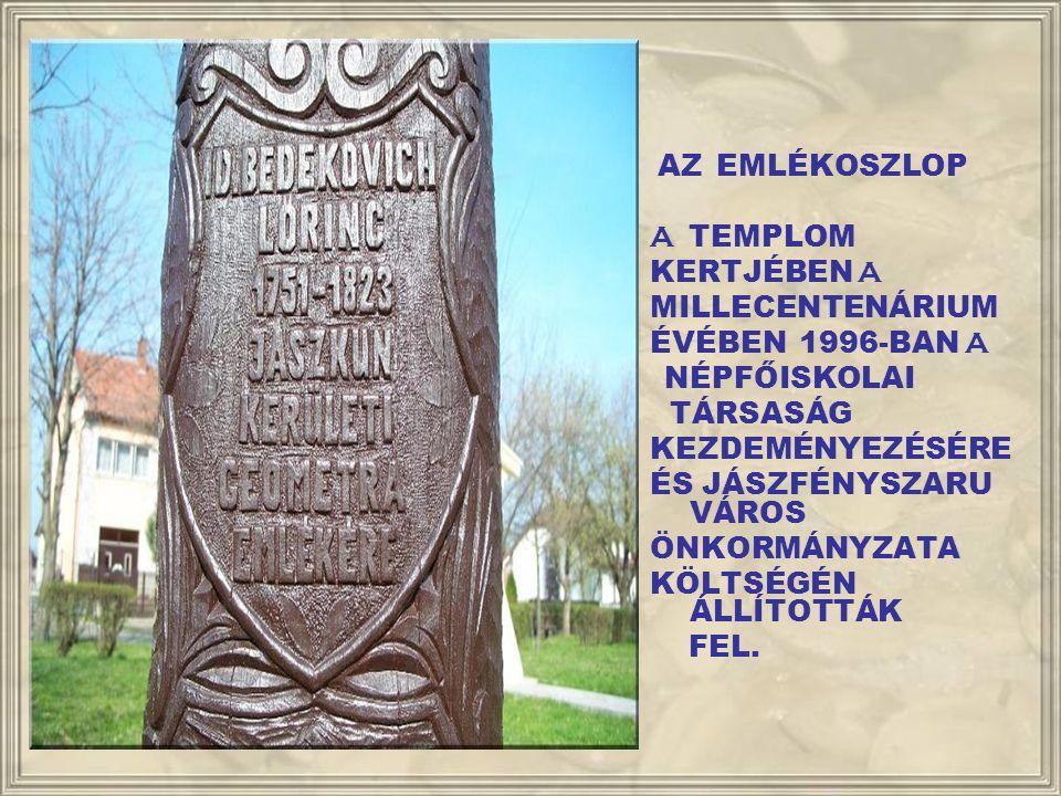 BEDEKOVICH - EMLÉKOSZLOP