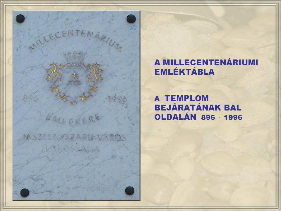 A REDEMPTIO EMLÉKTÁBLA A SZABADSÁG TÉR 1. A RÉGI TANÁCSHÁZA FALÁN A BEJÁRATTÓL BALRA 1995.
