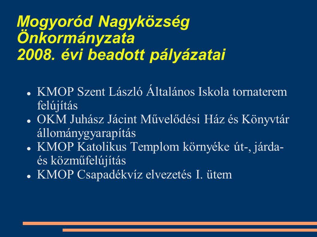 Mogyoród Nagyközség Önkormányzata 2008.