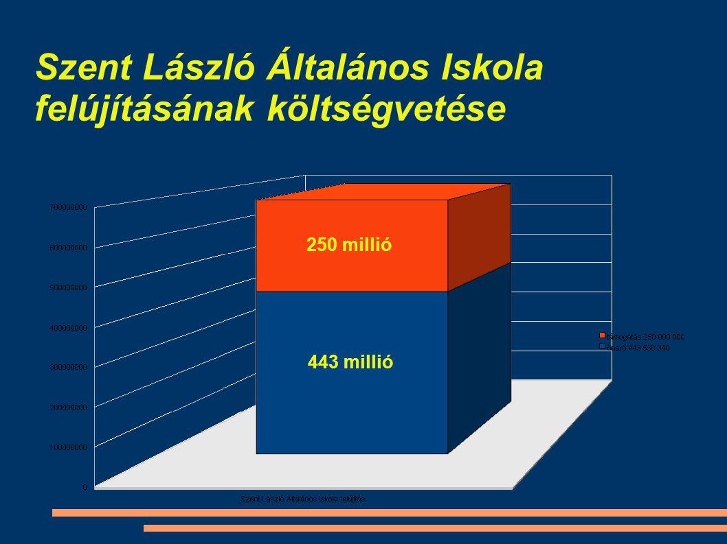 Szent László Általános Iskola felújításának költségvetése 250 millió 443 millió