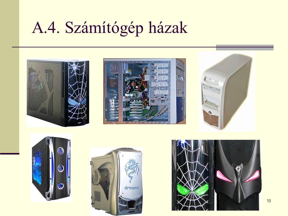 10 A.4. Számítógép házak