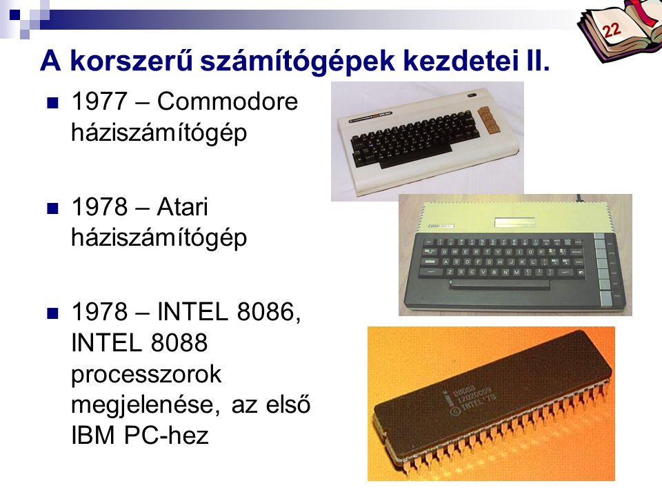 Bóta Laca A korszerű számítógépek kezdetei II.