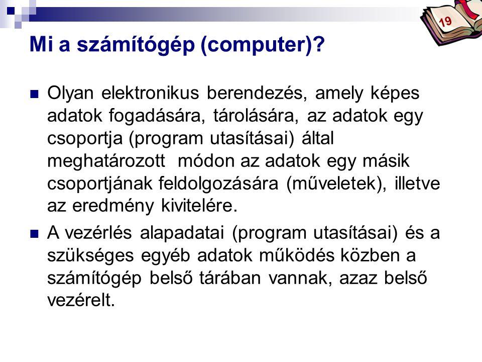 Bóta Laca A számítógép erőforrásai I.