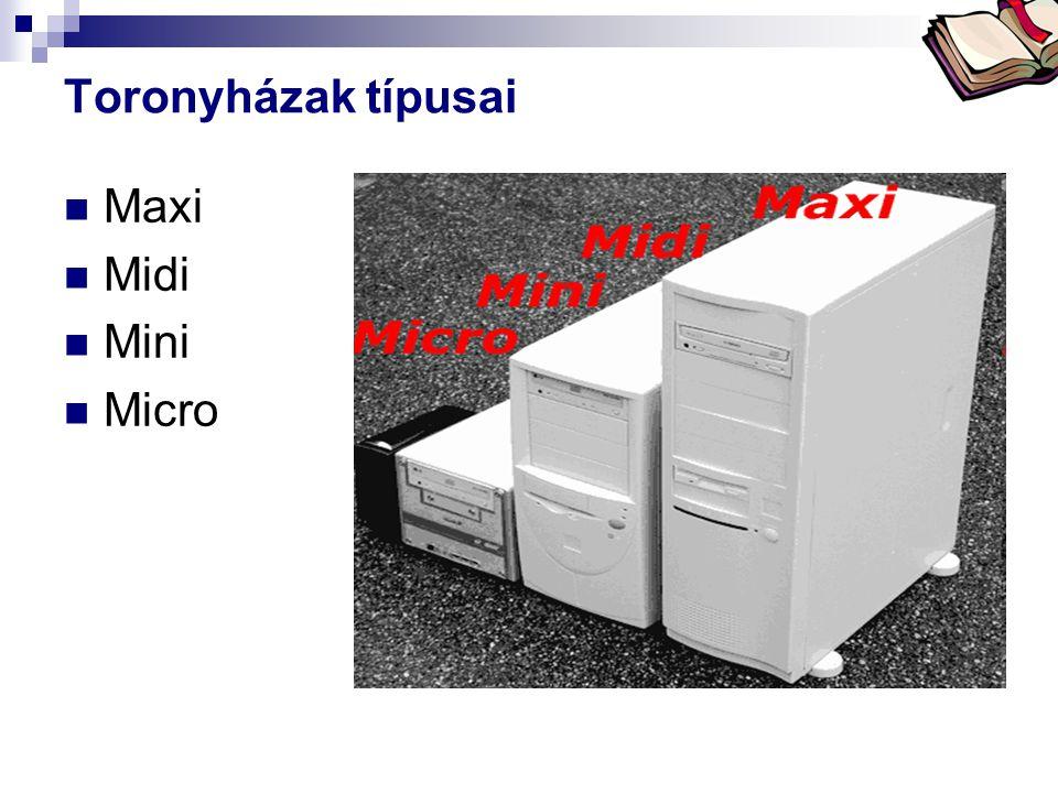 Bóta Laca Toronyházak típusai  Maxi  Midi  Mini  Micro