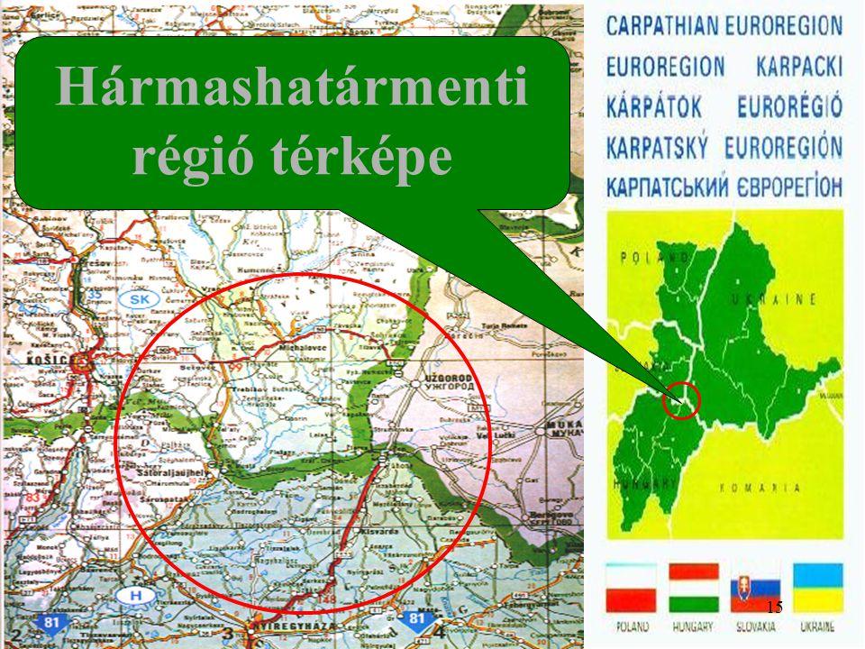 Hármashatármenti régió térképe 15