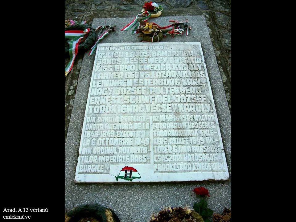 Arad. A 13 vértanú emlékműve