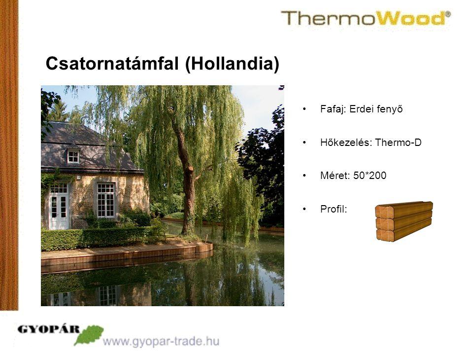 •Profil: Csatornatámfal (Hollandia) •Fafaj: Erdei fenyő •Hőkezelés: Thermo-D •Méret: 50*200