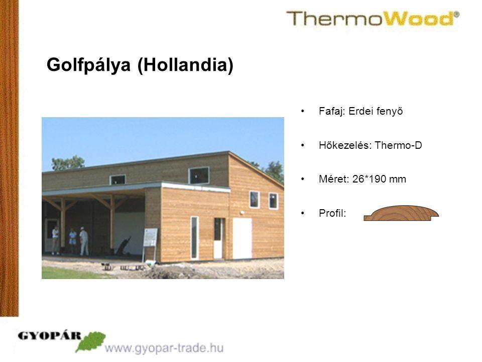 •Profil: Golfpálya (Hollandia) •Fafaj: Erdei fenyő •Hőkezelés: Thermo-D •Méret: 26*190 mm